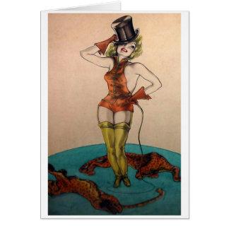 She's a Circus Ringmaster Card