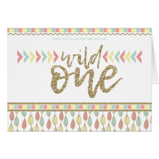 She's A Wild One First Birthday Thank You Notes