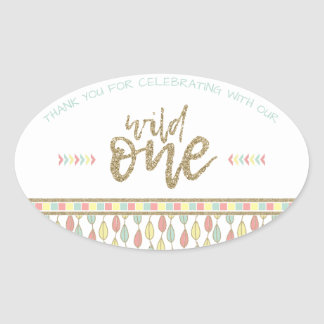 She's A Wild One First Birthday Thank You Stickers