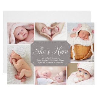 She's Here | Birth Announcement
