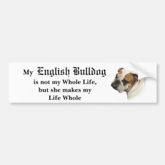 She's My Bulldog Bumper Sticker