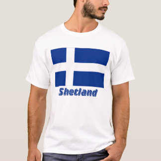 Shetland Flag with Name T-Shirt