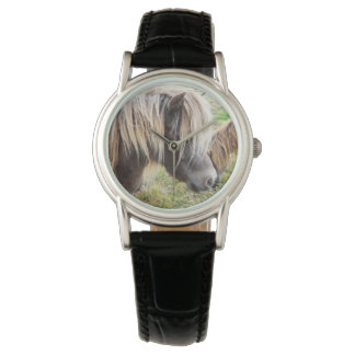 Shetland Pony, Bad, Hair Day, Ladies Leather Watch