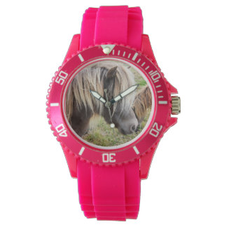 Shetland Pony, Bad, Hair Day, Ladies Pink  Watch