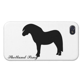 Shetland pony black silhouette iphone 4 case, gift