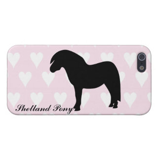 Shetland pony silhouette iphone 5 case, gift