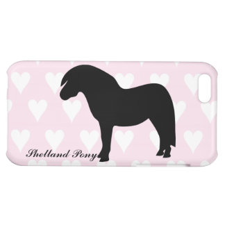 Shetland pony silhouette iphone 5c case, gift