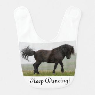 Shetland pony stallion dancing bib