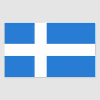 shetland region ethnic flag scotland british rectangular sticker