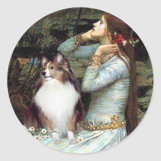 Shetland Sheepdog 18 - Ophelia Seated Classic Round Sticker
