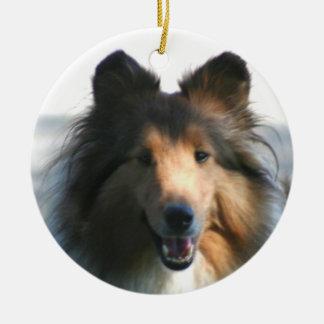Shetland Sheepdog Ceramic Ornament
