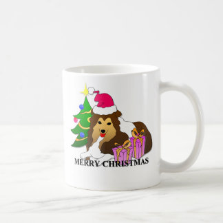 Shetland Sheepdog Christmas Coffee Mug