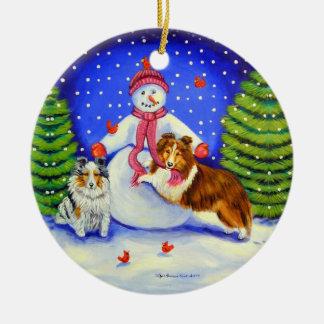 Shetland Sheepdog Circle Ornament