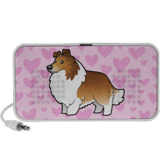 Shetland Sheepdog / Collie Love (add pattern) iPhone Speakers