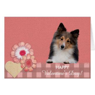 Shetland Sheepdog cute dog Valentine's Day Card
