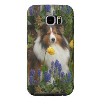 shetland sheepdog in flowers.png