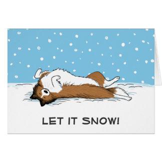 "Shetland Sheepdog ""Let it Snow"" - Cute Dog Holiday Card"