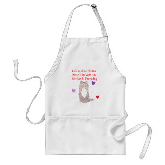 Shetland Sheepdog Life Is Just Better Apron