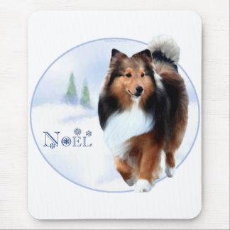 Shetland Sheepdog Noel Mouse Pad