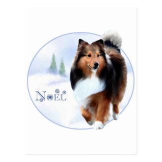 Shetland Sheepdog Noel Postcard
