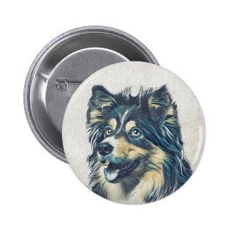 Shetland Sheepdog Painting Button