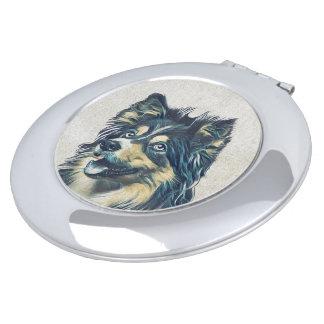 Shetland Sheepdog Painting Compact Mirror