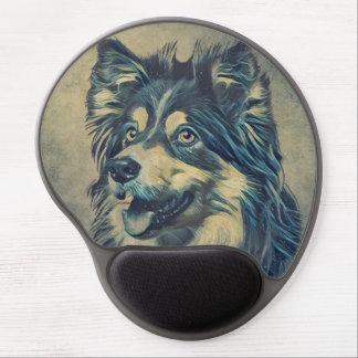 Shetland Sheepdog Painting Gel Mousepad