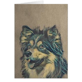 Shetland Sheepdog Painting Greeting Card