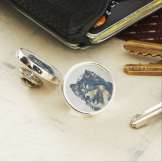Shetland Sheepdog Painting Lapel Pin