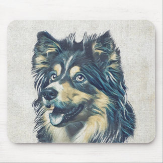 Shetland Sheepdog Painting Mousepad