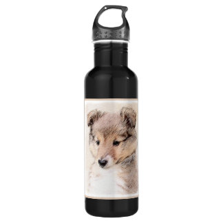 Shetland Sheepdog Puppy 710 Ml Water Bottle
