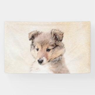 Shetland Sheepdog Puppy Banner