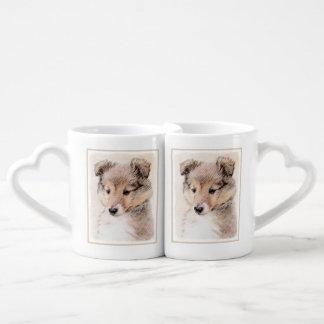 Shetland Sheepdog Puppy Coffee Mug Set
