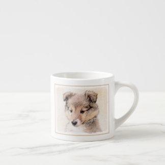 Shetland Sheepdog Puppy Espresso Cup