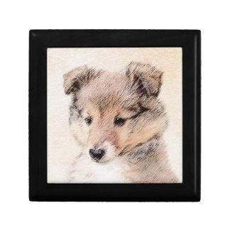 Shetland Sheepdog Puppy Gift Box