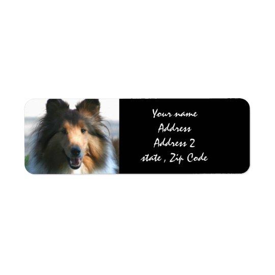 Shetland Sheepdog Return Address Label
