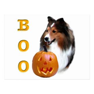Shetland Sheepdog (sable) Boo Postcard