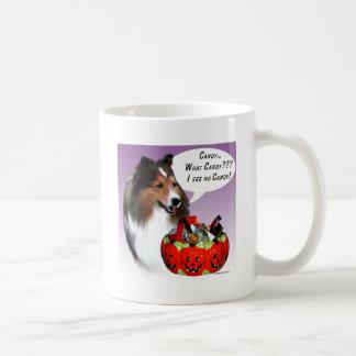 Shetland Sheepdog (sable) Halloween Candy Coffee Mug