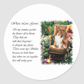 Shetland Sheepdog Sheltie Art Gifts Classic Round Sticker