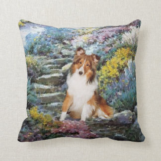 Shetland Sheepdog Sheltie Art Gifts Throw Pillow