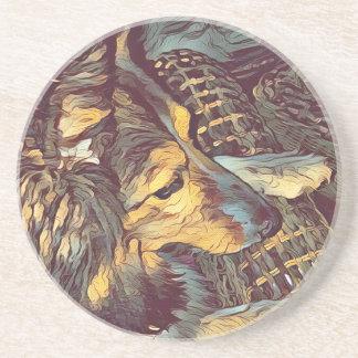 Shetland Sheepdog Sheltie Artistic Portrait Coaster