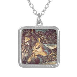 Shetland Sheepdog Sheltie Artistic Portrait Silver Plated Necklace