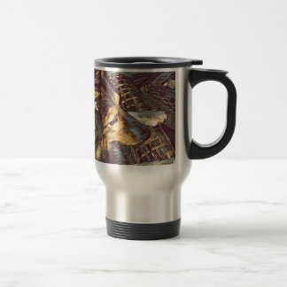 Shetland Sheepdog Sheltie Artistic Portrait Travel Mug