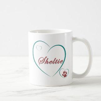 Shetland Sheepdog: Sheltie Love Hearts Coffee Mug