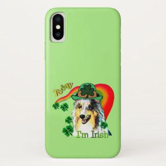 Shetland Sheepdog St Patricks iPhone X Case