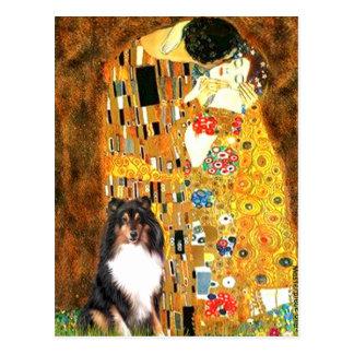 Shetland Sheepdog (Tri11) - The Kiss Postcard