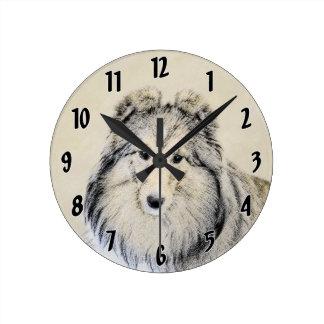 Shetland Sheepdog Wallclock