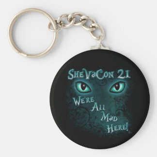 "SheVaCon 21 - ""We're All Mad Here"" Keychain"