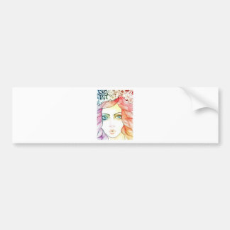 Shey s Lady Series - Colourful Card Bumper Stickers