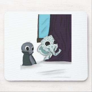 shh i'm hiding monster digital art mousepad